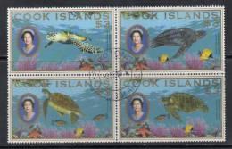 Cook Island, Jaar 2008, Blok Van 4, Schildpadden, Gestempeld, Zie Scan - Cook