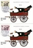 1986 -  Journée Du Timbre - Malle Poste Brisca - Beaugency - 2 Cartes Postales - N° 2410 Et 2411 - 1990-1999