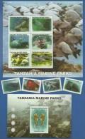 tan1106c0 Tanzania 2011 Marine Parks 4v+2s/s Fish Octopus Turtle