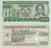Mozambique P-130a, 100 Metricals, Flag Cerimonies - Mozambique