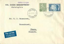 Finland Cover 1955 Cancelled Par Avion - Airmail