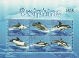 pal0915sh Palau 2009 Dolphin s/s
