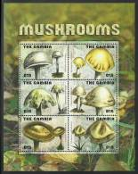 gam0927sh Gambia 2009 Mushroom s/s