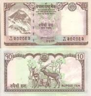 Nepal P-61, 10 Rupee, Mt Everest, Changunarayan On Garuda / Antelope, 2008 - Nepal