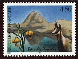 N° 3056  Année 1997 Parc Des Pyrénées  Faciale 4,50 Francs - France
