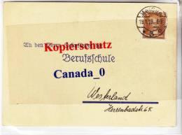 """B2 --  P.Kte   Meißen 8an Alle Schulleiter) Nach Westerland (geb.Anzeige """"Hobel"""") 19.1.1929 - Covers & Documents"""