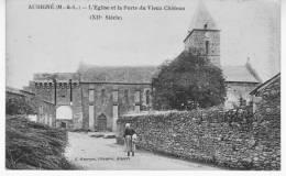 AUBIGNE L'église Et La Porte Du Vieux Chateau XII Siècle - France