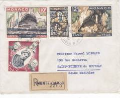 Lettre Cover, MONACO, 1958, RECOM. MONTE CARLO Pour La FRANCE, /2017 - Poststempel