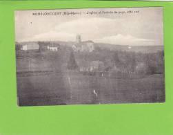 CPA - 52 - AUDELONCOURT   Léglise Et L Entrée Du Pays Coté Sud - Autres Communes