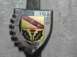 Insigne 101 Général Compagnie De Quartier émaillé DRAGO G2095 - Armée De Terre
