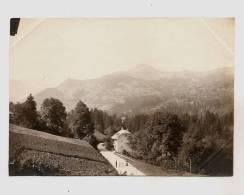 Ancienne Photo Photographie Saint Gervais Route De Mégève Haute Savoie 74 No CPA Chamonix - Places