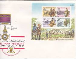 New Zealand 1984 Military History Mini Sheet FDC - FDC