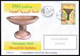 ALGERIE ALGERIA ALGERIEN - 2013 - Circulated Cover -Yennayer - Nouvel An Berère - Berber New Year - - Ernährung