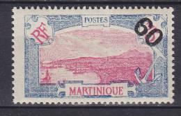 Martinique 1922 Mi. 109     60 C Auf 75 C Fort-de-France M. Aufdruck Overprinted MH* - Martinique (1886-1947)