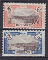 Martinique 1922/24 Mi. 91, 94 Fort-de-France MH* - Martinique (1886-1947)