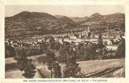 Saint Julien Chapteuil (hte-loire) Vue Generale 1950 Scan Recto Verso - Andere Gemeenten