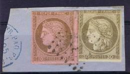 Colonies Francaises: Yv Nr 18+ 22 Martinique Cachet MQE, Valeur A Lettre € 1250 Nr 18 Maury Cat.