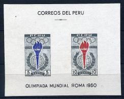 S    Perou ** Bloc N° 4 - J.O. (flamme Olympique) - Lot 3 - B 20 - Peru