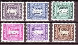 SOMALIA  ITALIANA SEGNATASSE 1950   NUOVO*  5 VALORI - Somalie
