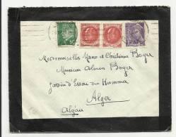 1942 - ENVELOPPE MORTUAIRE Du VAR Pour L´ ALGERIE - PETAIN - MERCURE - France