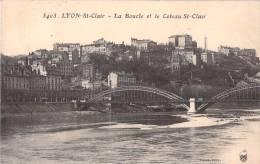 69 LYON SAINT CLAIR LA BOUCLE ET LE COTEAU SAINT CLAIR VOYAGEE 1915 - Lyon