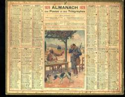 Calendrier 1929 Retour De Chasse - Calendars