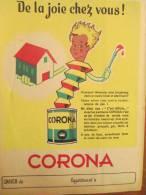 CORONA/Peinture/ Latex Corona/Email COROLAC/années 50    CAH25 - Peintures