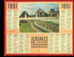 Calendrier 1951 Arc De Triomphe Du Carrousel. - Grand Format : 1941-60