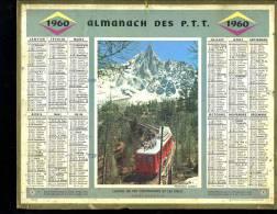 Calendrier 1960 Chemin De Fer Montenvers Et Les Drus Haute Savoie - Grand Format : 1941-60