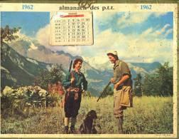Calendrier 1962 Une Bonne Histoire De Chasse, Le Calendrier Sur L´image Commence Au Mois D´Avril - Calendriers