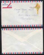 TONGA - JEUX DU PACIFIQUE SUD - LANCEUR DE POIDS / 1970 LETTRE AVION (ref 4103) - Tonga (1970-...)