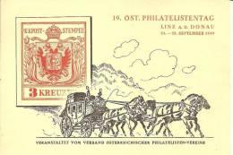 AR-II065 /- ÖSTERREICH -  Private Ganzsache Joh. Strauss (Ersttag  (24.9.49). S-Stpl. 19. Phil.-Tag,  Linz - 1945-60 Briefe U. Dokumente