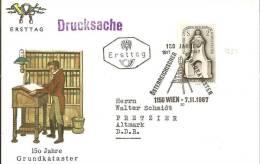 A-RII149 /- ÖSTERREICH -  150 Jahre Katasteramt. FDC Als Drucksache Nach Deutschland Versandt 7.22.67 - 1945-60 Briefe U. Dokumente