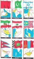 """9 FIGURINE """"LE BANDIERE DEL MONDO"""" -LOTTO 4 - Stickers"""