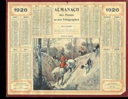 "Calendrier 1926, Chasse à Courre ""passage Du Ruisseau"" - Calendars"