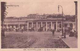 CPA 34  MONTPELLIER, La Gare PLM. (animée) - Montpellier