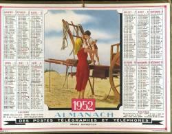 Calendrier 1952, Scène Champêtre, Enfant. - Calendriers