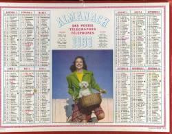 """Calendrier 1953, Cycliste Et Petit Chien.""""compagnon De Route"""" - Kalenders"""