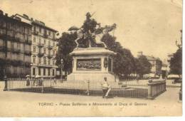 Cartoline Monumenti-monumento A Duca Di Genova-torino - Monuments