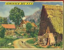Calendrier 1954 Double Cartonnage, Village Des Hautes Alpes. - Big : 1941-60