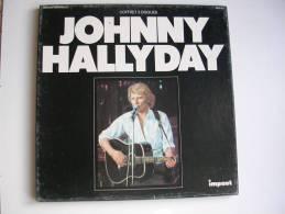 """33 Tours 30 Cm - JOHNNY HALLYDAY - IMPACT 6993002 """" AMOUR D'ETE """" + 35 ( Coffret 3 DISQUES ) - Vinyl-Schallplatten"""
