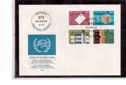 TEM8073-  SVIZZERA  -   FDC   MICHEL NR.  10/13 SERVIZIO - FDC