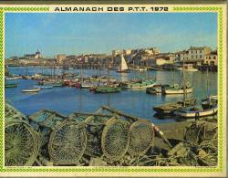 Calendrier 1972 Double Cartonnage,Vendée: Les Sables D'Olonne Bateaux De Pêche, Charente Château De La Roche-Courbon. - Calendriers