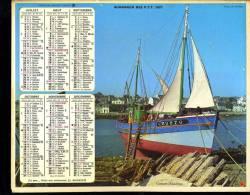 Calendrier 1977 Double Cartonnage,Vendée:Finistère, Camaret,  Bateau De Pêche, Basses Pyrénées Orthez Vieux Pont - Calendars