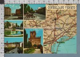 R8425 CONEGLIANO VENETO TREVISO MAPPA VG F.BOLLO EMIGRAZIONE ITALIANA NEL MONDO - Treviso