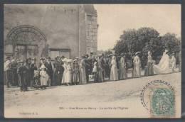 18 - Une Noce Au Berry - La Sortie De L'Eglise - EL 201 - (Oblitération De MARMAGNE) - France
