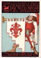 Cartolina Esposizione Nazionale Piccole Industrie E Artigianato FIRENZE 1923 Ill.U.Bartolini - Esposizioni