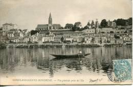Cpa   78         Conflans- Sainte-Honorine    Vue Générale Prise De L'Ile         Barque