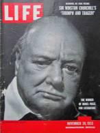 Magazine LIFE  NOVEMBER 30, 1953 - INTERNATIONAL EDITION - Photo Station Mobilgaz PARIS , Voiture RENAULT Frégate  (3012 - Nouvelles/ Affaires Courantes