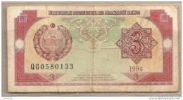 Uzbekistan - Banconota Circolata Da 3 Sum - 1994 - Uzbekistan